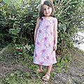 Robe fleurie vieux rose 6 ans (2)