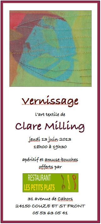 vernissage Clare