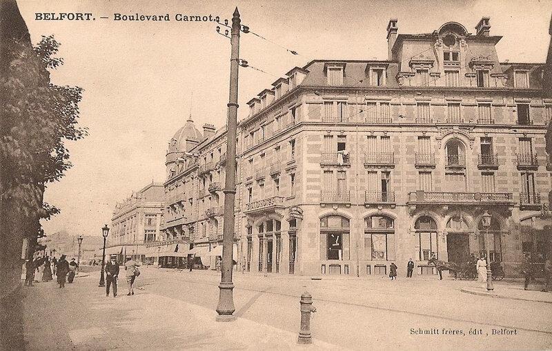 Belfort CPA Bd Carnot n°11 Grand Hôtel Entrée rue Reiset