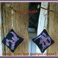 Porte clefs initiale gothique