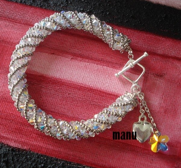 bangle spirale bianco