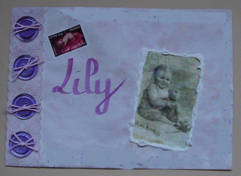 Pour Lily, mauve/rose-plastique-transfert