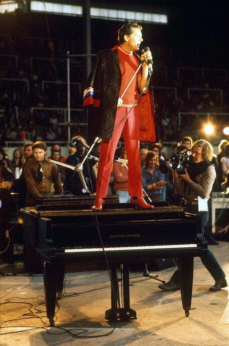 Jerry Lee Lewis avait un piano monté sur ressort de sorte que lorsqu'il jouait l'instrument bougeait tanguait tout le temps Photo Chris Foster SIPA