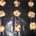 Cookies cranberries / chocolat au lait