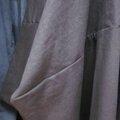 Robe EULALIE en lin brun (4)