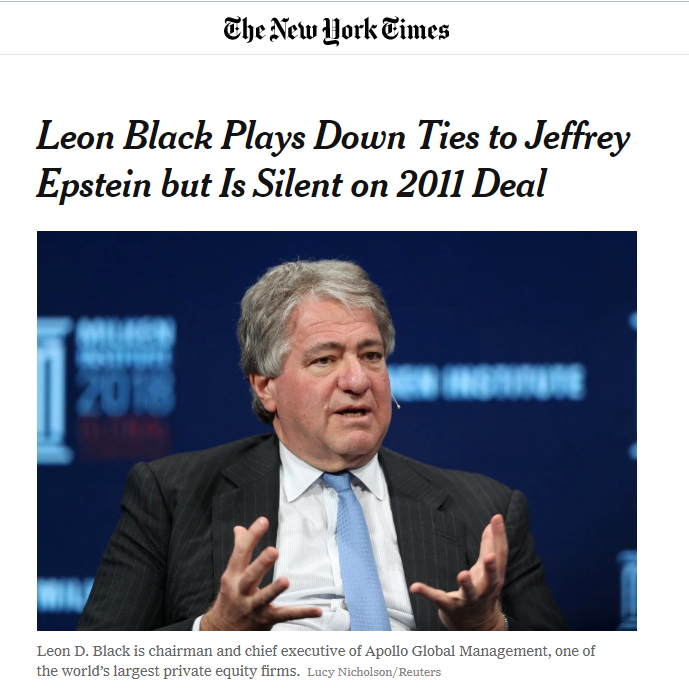 2019-08-13 12_36_52-Leon Black Plays Down Ties to Jeffrey Epstein but Is Silent on 2011 Deal - The N