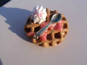 broche gaufre chantilly