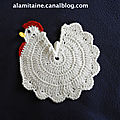 La manique poule au crochet