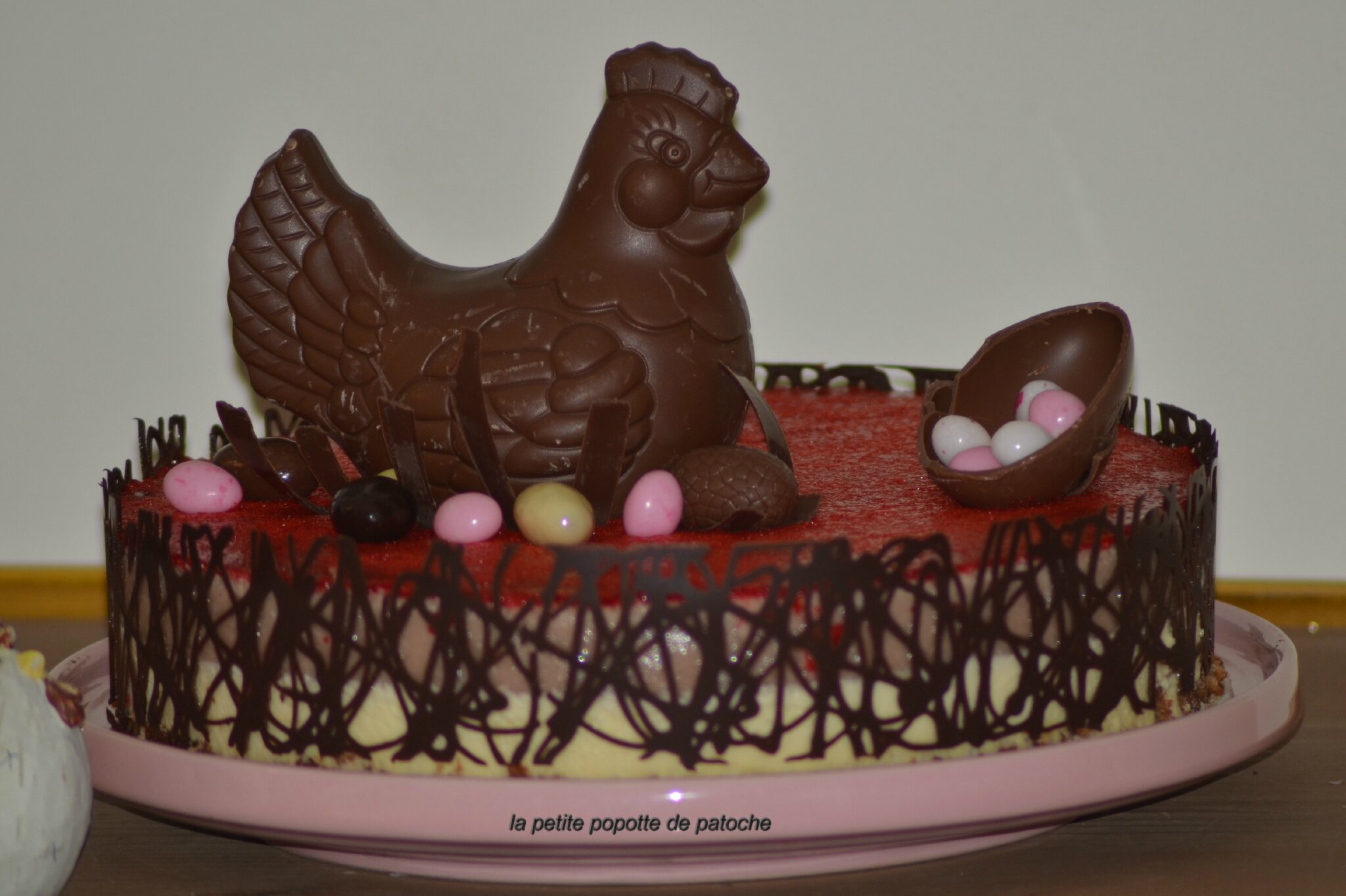 BAVAROIS CHOCOLAT BLANC et FRAISES de PÂQUES