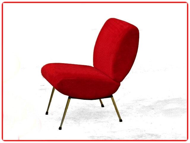 chauffeuse Pelfran rouge vintage 1960