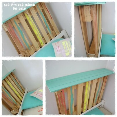 diy d co faire une t te de lit avec une palette les p 39 tites d cos de lolo. Black Bedroom Furniture Sets. Home Design Ideas
