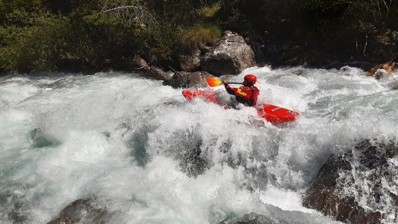 Byaisse : Nico dans le rapide de Freissiniere