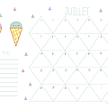 Calendriers mensuels : juillet 2014 (à imprimer - gratuit)