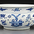 A blue and white censer, kangxi period (1662-1722)