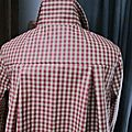 Ciré AGLAE en coton enduit à carreaux rouge et beige (9)