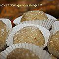 Friandises aux noix sans gluten et sans lactose