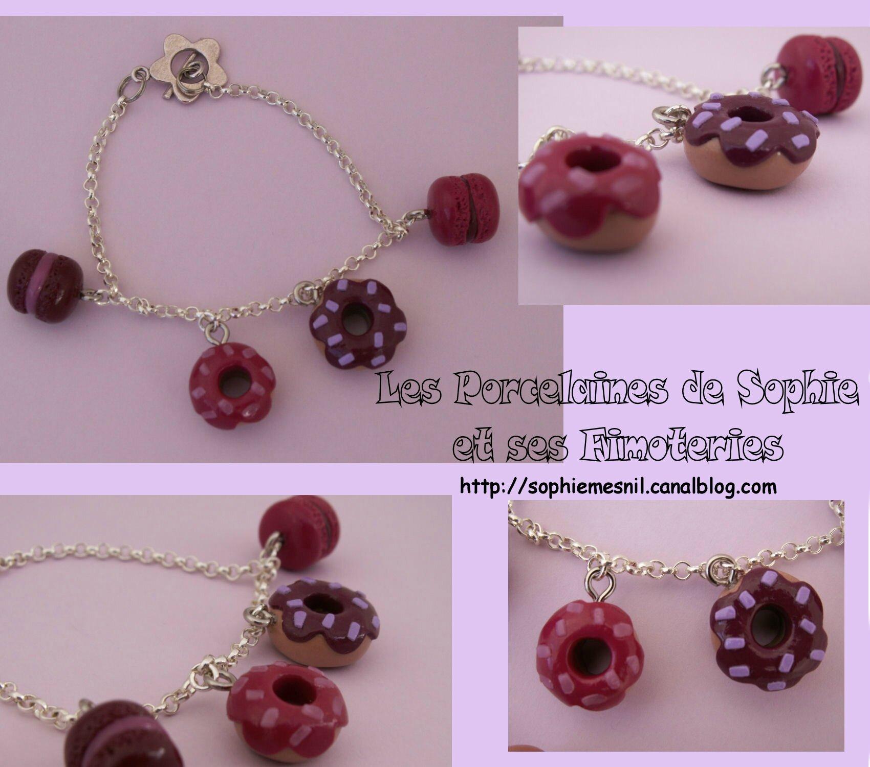 Bracelet macarons donuts violine