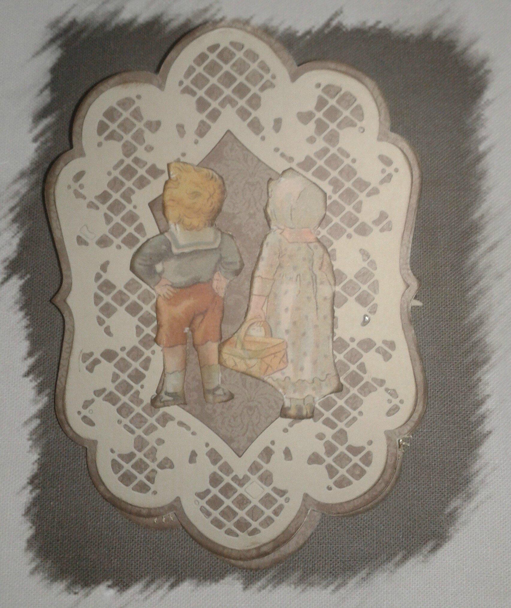 carte vintage enfants chevalet