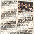 Caen 12 novembre 2014: film sur guillaume le conquérant à l'université et séminaire normandie dans son château...