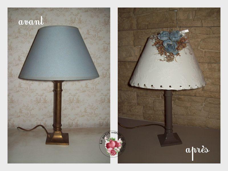 Une autre lampe chinée avant/ après