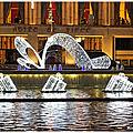 Illuminations de noël à l'hôtel de ville du havre