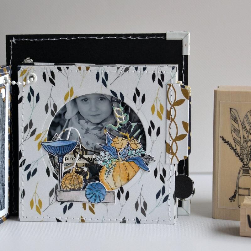 mini carré la vie est tellement belle - collection Esprit Folklore- octobre18- devant page#11-claire- scrapathome- Chou&Flowers