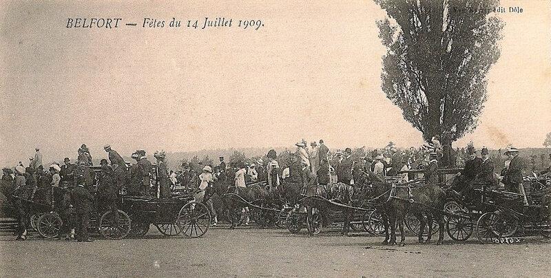 1909 07 14 Belfort CPA 6740 Fête 14 juillet Champ de Mars