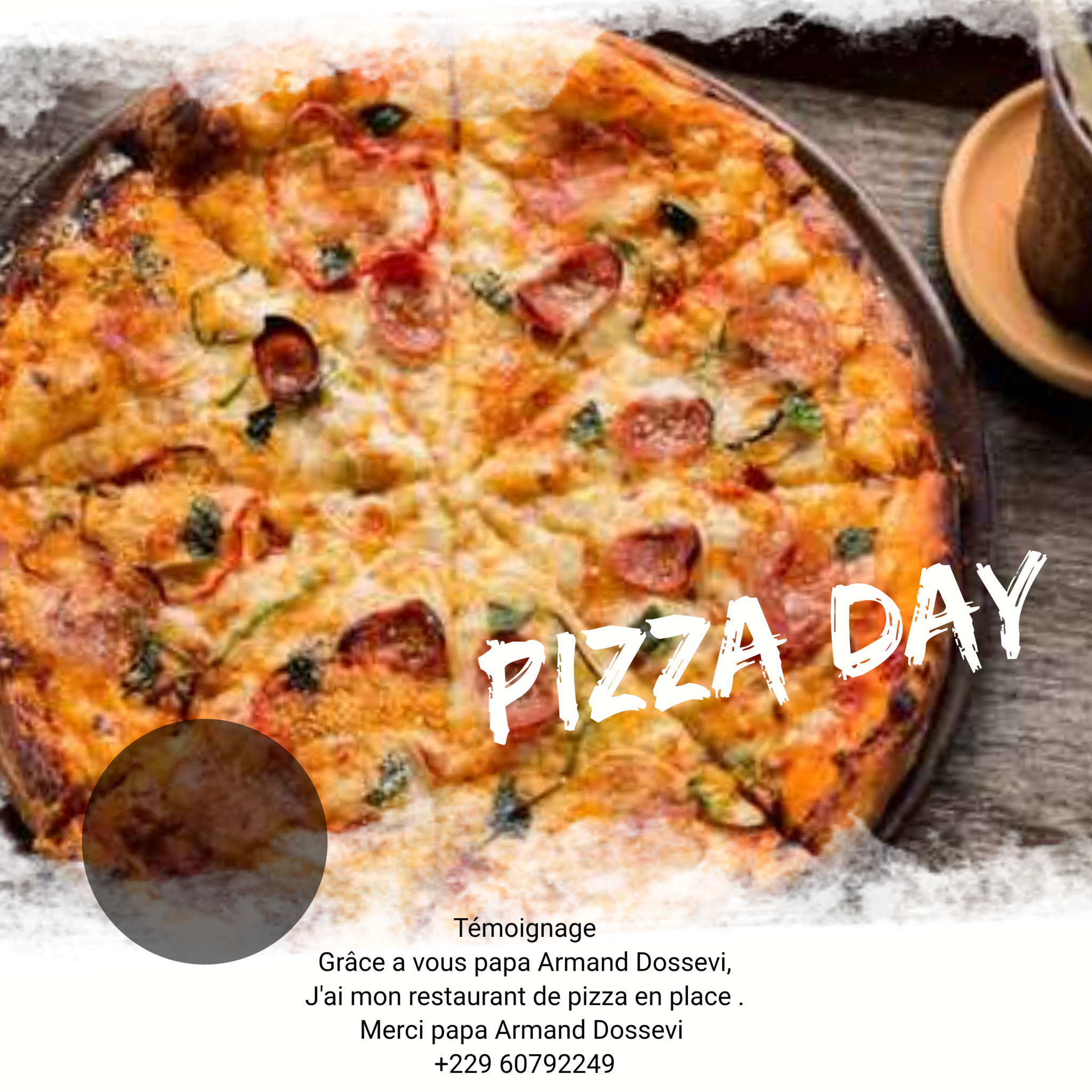 Christian Bob , PDG du restaurant Pizza Day en USA