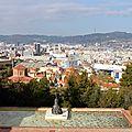 Barcelone, vue Park Joan Miro_6120