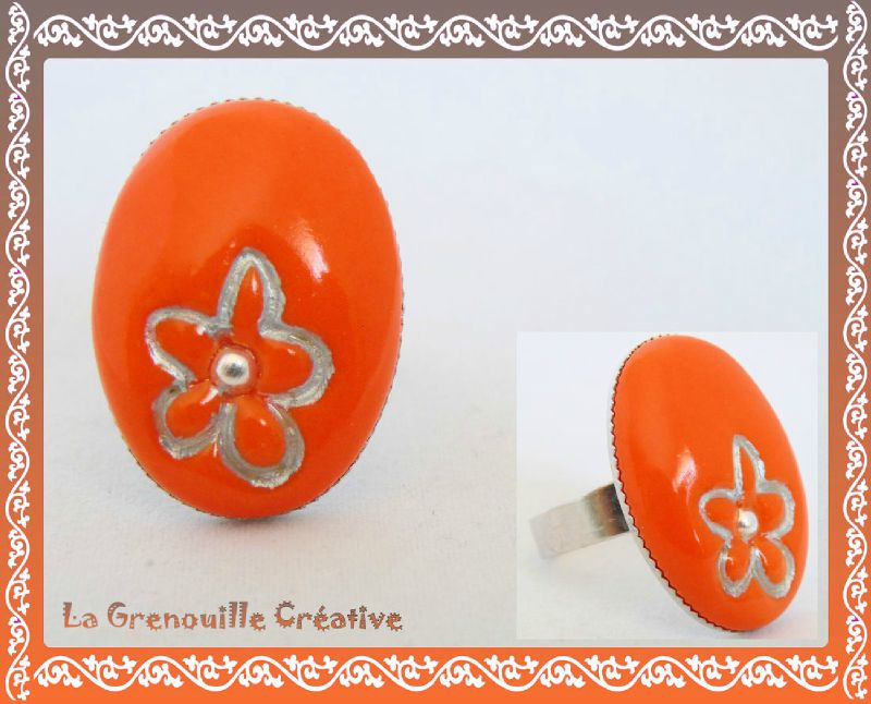 Bague pop orange (2)