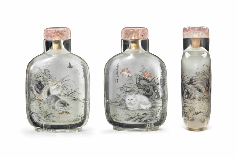 An inside-painted crystal snuff bottle, Wang Xisan, dated to the jiyou year (1969), the bottle 1750-1850