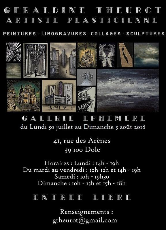 invitation galerie éphémère Géraldine Theurot