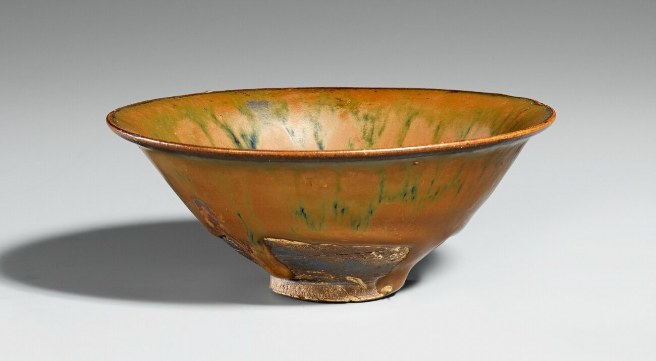 A Cizhou type black bowl with iron rust stains, Northern Song-Jin dynasty, 11th-12th century