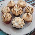 Cupcakes au lemon curd meringués