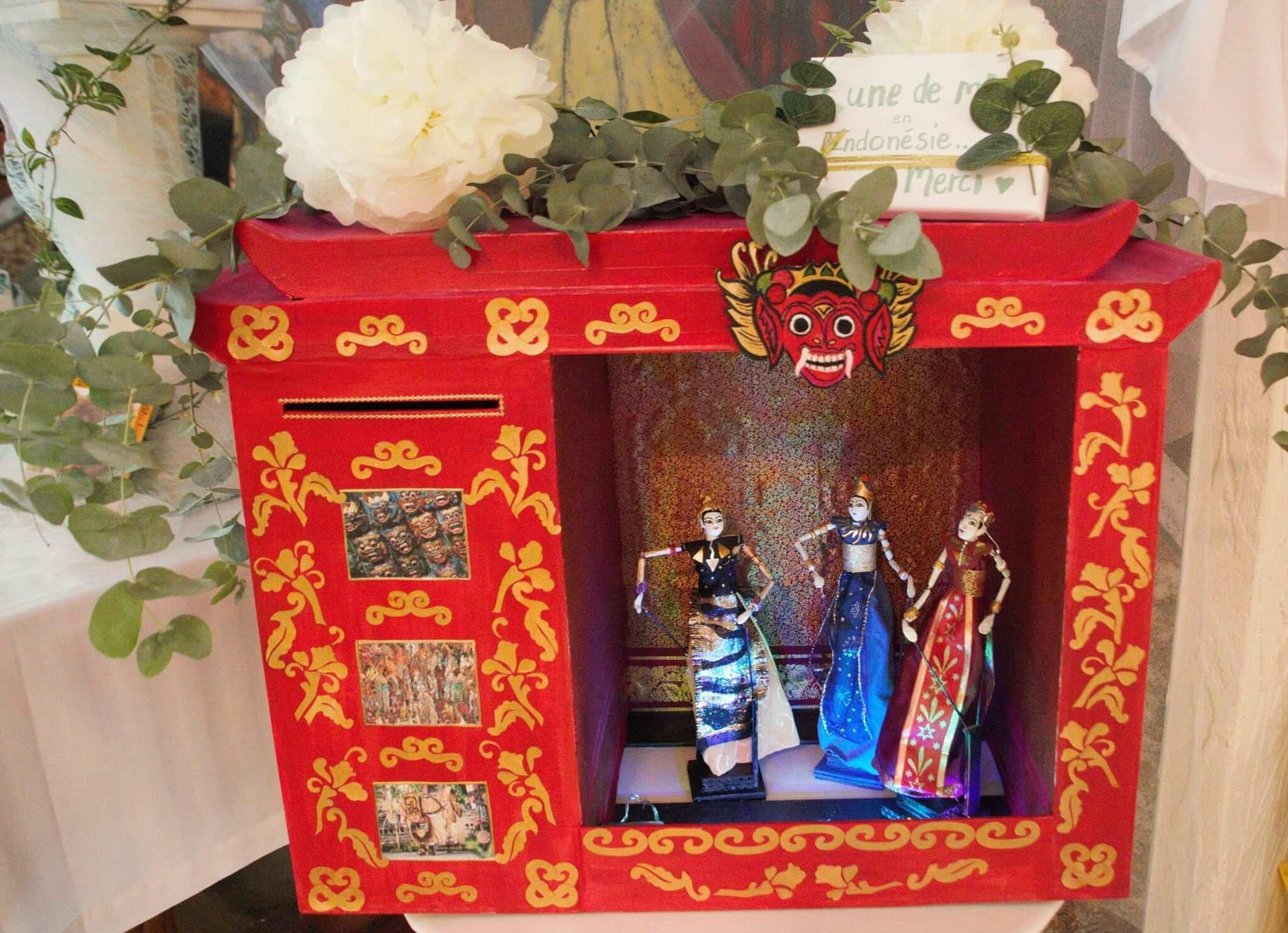 """urne de mariage, thème """"Bali"""""""