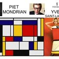 quadrillage dans l'art Yves saint laurent inspiration MONDRIAN 1