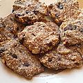 Des cookies sans beurre, sans sucre, sans oeuf et sans farine mais pas sans goût