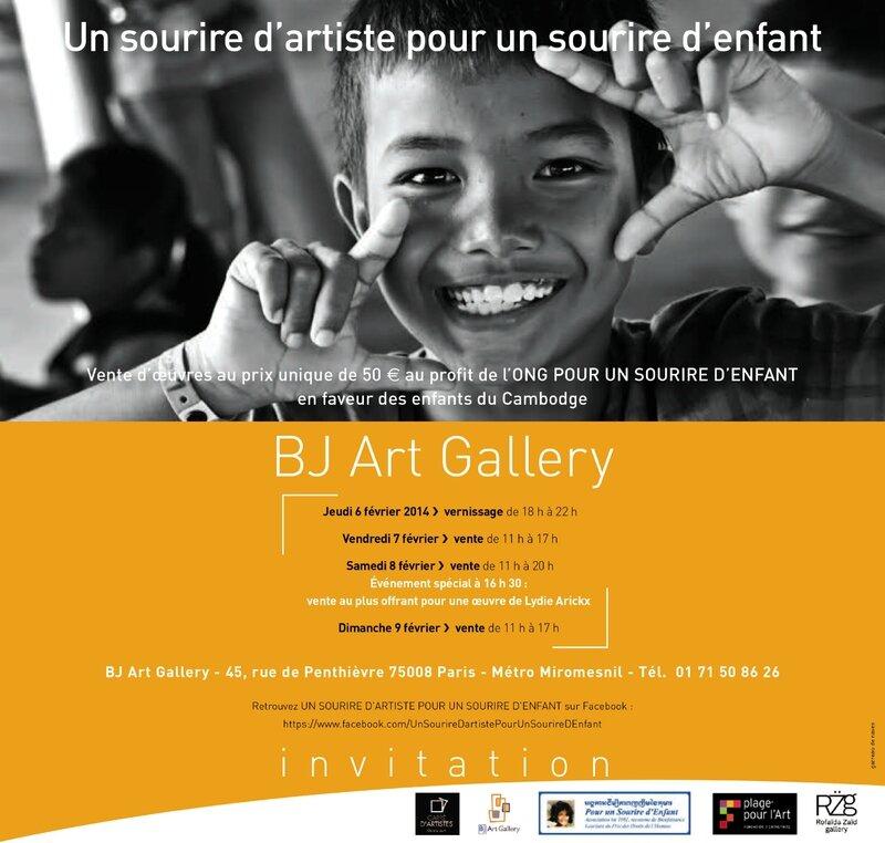 Invitation Web UN SOURIRE D'ARTISTE POUR UN SOURIRE D'ENFANT - copie