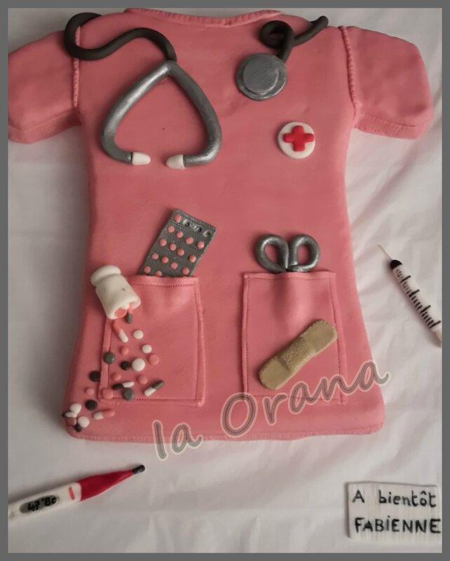 Gâteau blouse d'infirmière