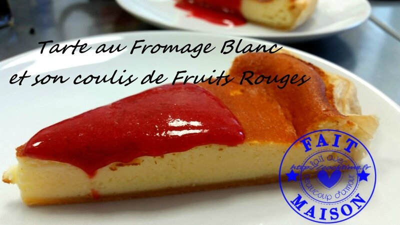 Tarte au fromage blanc et son coulis de fruits rouges
