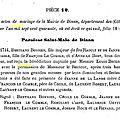 Bonnier Bertrand & Cécile Le Comble_Mariage_Information erronée ou falsifiée dans l'Ouvrage