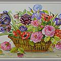 Grande corbeille de fleurs