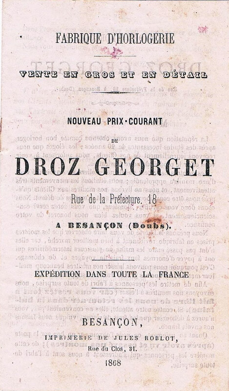Catalogue Droz Georget 1868 (2)