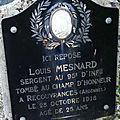 Mesnard louis auguste (châteauroux) + 29/10/1918 recouvrance (08)