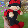 Baby ladybird - knitting by post