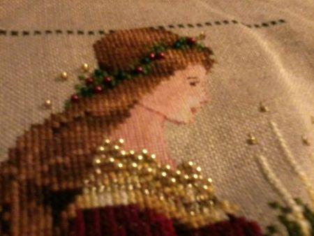 Lavander & Lace - 2012-11-17 - Lady Christmas (détail visage + perles)