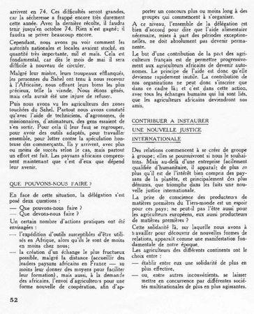 Article de PAYSANS 1973 au Sahel page 2