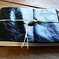 Carnet de dessin à couverture en cuir