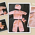 Ensemble layette rose