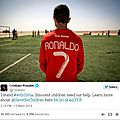 Cristiano ronaldo supports syrian children